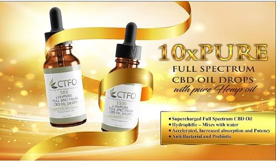 10xPure CTFO CBD Oil Drops